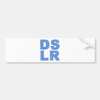 DSLR Type Typo Text Bumper Sticker