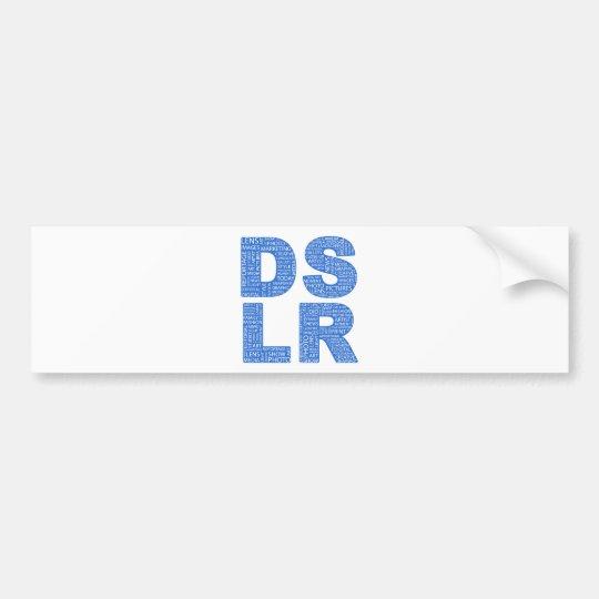 DSLR Type Typo Text Bumper Sticker