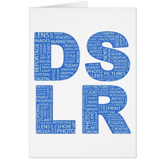 DSLR Type Typo Text Card