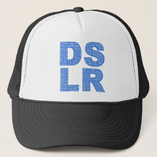 DSLR Type Typo Text Trucker Hat
