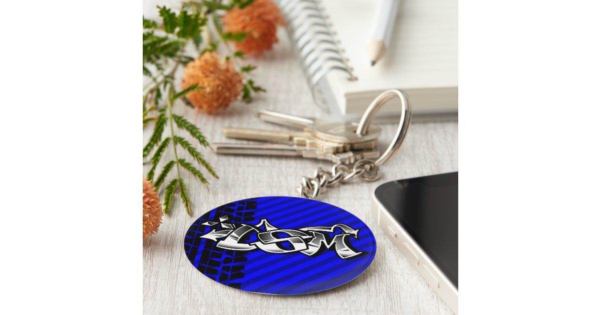 DSM Eclipse Talon 4g63 Blue Keychain Zazzle