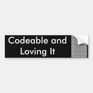 DSM-IV, Codeable and Loving It Bumper Sticker