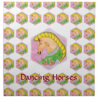 Dsncing Horses Printed Napkin