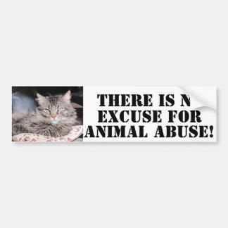 Dsy NO To Animal Abuse Bumper Sticker