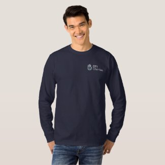 DT1 Charities Long Sleeve Shirt with Logo in Navy