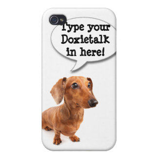 DT# 22789108Custom Spunky Smooth Doxie iPhone4 cov iPhone 4/4S Cover