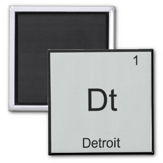 Dt - Detroit City Chemistry Element Symbol T-Shirt Fridge Magnet