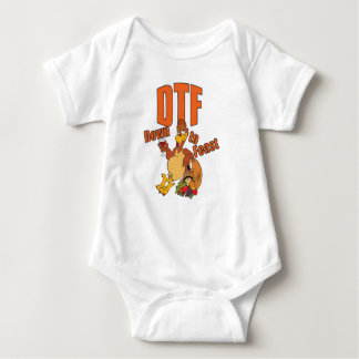 DTF down to feast thanksgiving funny cute Baby Bodysuit