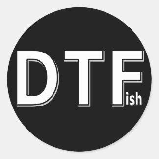 DTFish - pesca divertida Etiqueta Redonda