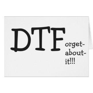 dtforgetaboutit tarjeta de felicitación