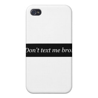 dtmb   Don't Text Me Bro   Stop texting & driving iPhone 4 Covers