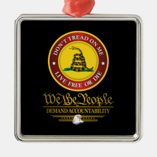DTOM -Demand Accountability Metal Ornament