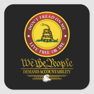 DTOM -Demand Accountability Square Sticker
