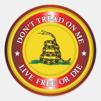 DTOM - Libres vivos o mueren 2 (el cobre) Pegatina Redonda