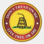 DTOM - Libres vivos o mueren Pegatinas Redondas