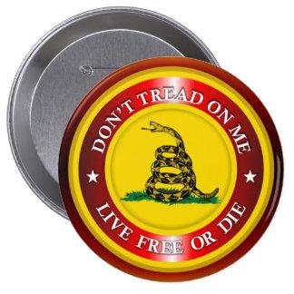 DTOM - Live Free or Die 2 (copper) 4 Inch Round Button