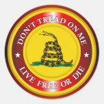 DTOM - Live Free or Die 2 (copper) Classic Round Sticker