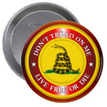 DTOM - Live Free or Die 2 (copper) Pinback Button
