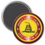 DTOM - Live Free or Die 2 (red) 3 Inch Round Magnet