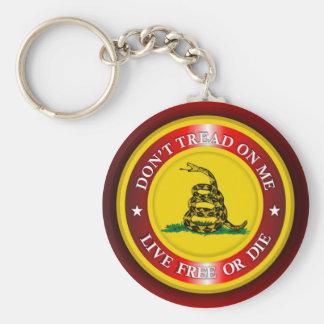DTOM - Live Free or Die 2 (red) Basic Round Button Keychain