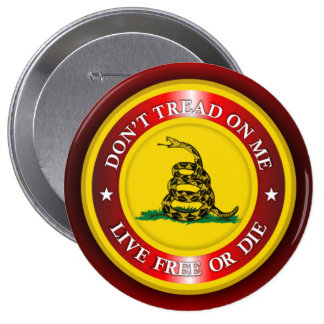 DTOM - Live Free or Die 2 (red) Button