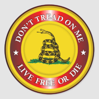 DTOM - Live Free or Die 2 (red) Classic Round Sticker