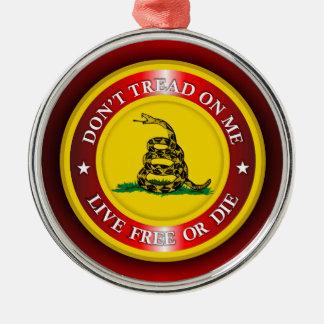 DTOM - Live Free or Die 2 (red) Metal Ornament