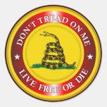 DTOM - Live Free or Die 2 (red) Classic Round Sticker