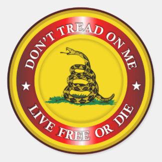 DTOM - Live Free or Die 2 (red) Stickers
