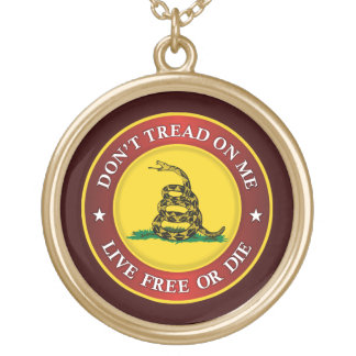 DTOM -Live Free Or Die Gold Plated Necklace