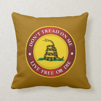 DTOM -Live Free Or Die Throw Pillow