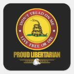 DTOM -Proud Libertarian Square Sticker