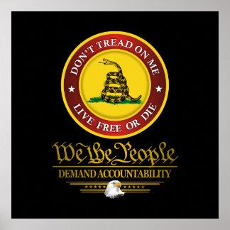 DTOM - Responsabilidad de la demanda Póster