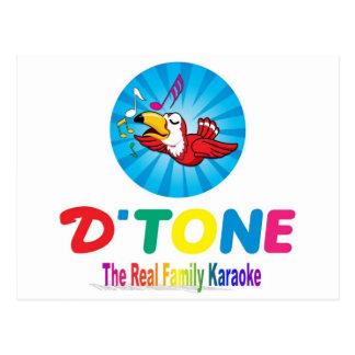 D'Tone Family Karaoke Souvenir Postcard