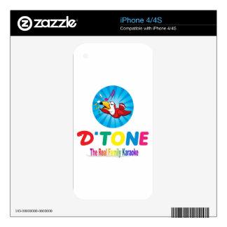 D'Tone Family Karaoke Souvenir Decal For iPhone 4