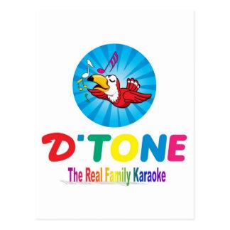 D'Tone Family Karaoke Souvenirs Postcard