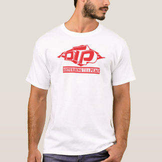 DTP Red on Black Ladies T-Shirt
