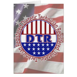 DTR Dietetic Technician, Registered PATRIOTIC LOGO Card