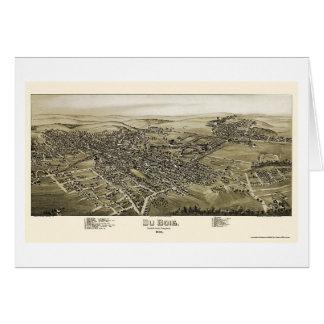 Du Bois, mapa panorámico del PA - 1895 Tarjeta De Felicitación