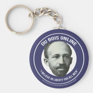 Du Bois Online Basic Round Button Keychain