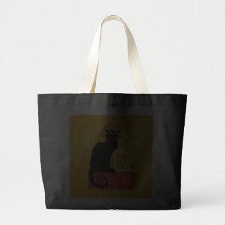 Du Chat Noir Black Cat Vintage Paris Fine Art Tote Bag