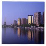 Du delantero el Sena y torre Eiffel, París, Franci Azulejos Cerámicos