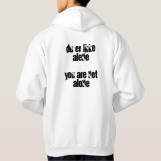 du er ikke alene / you are not alone tshirt Evak