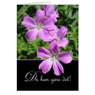Du kan gøre det! Encouragement in Danish, Flowers Card