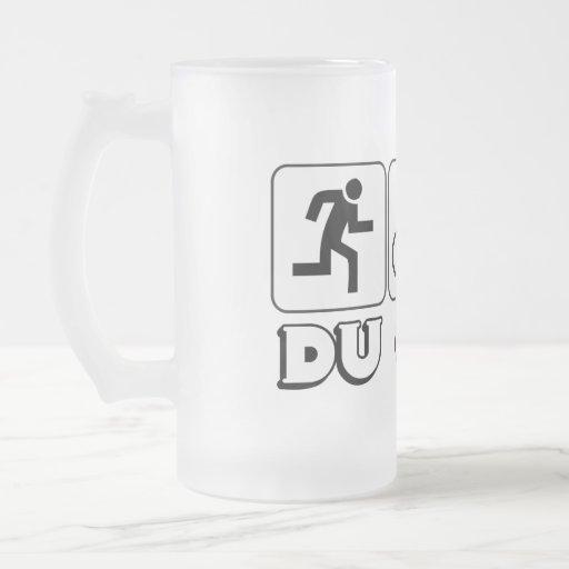 DU or Die 16 Oz Frosted Glass Beer Mug