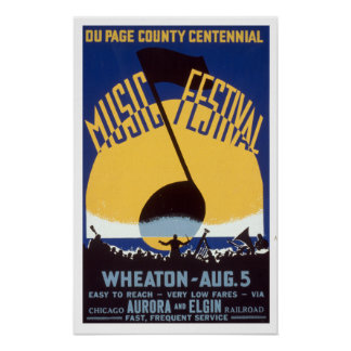 Du Page County Centennial Music Festival WPA Poster