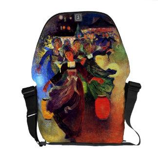 Du Puigaudeau: Breton Girls with Chinese Lanterns Messenger Bag