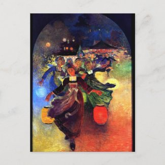 Du Puigaudeau: Breton Girls with Chinese Lanterns