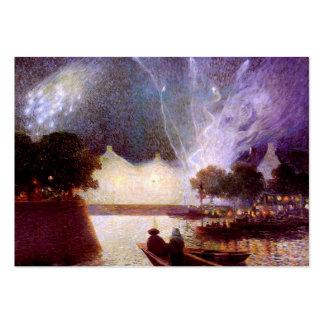 Du Puigaudeau: Fireworks over the Port Large Business Cards (Pack Of 100)