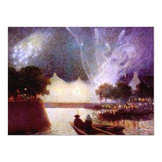 Du Puigaudeau: Fireworks over the Port Card